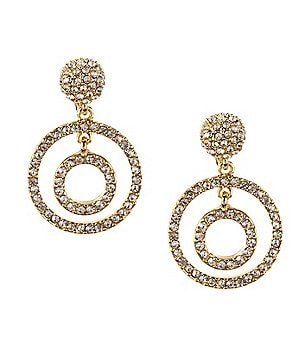 Anne Klein Socialite Orbital Clip-On Earrings