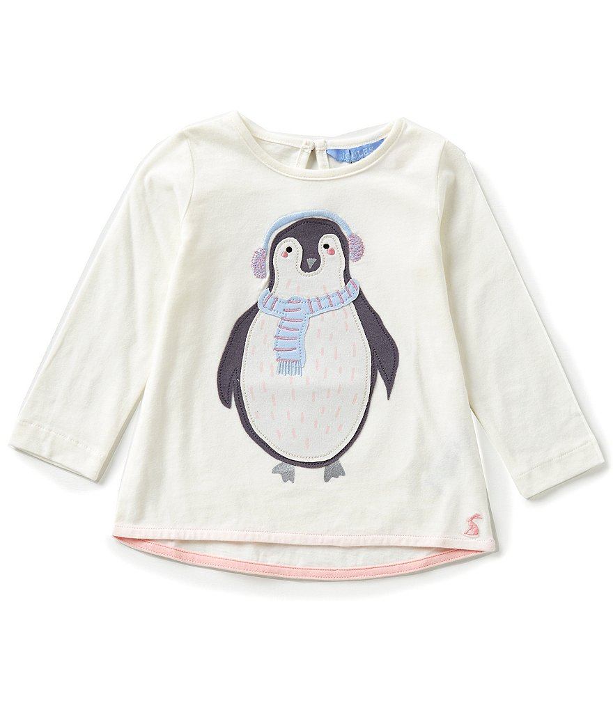 Joules Baby/Little Girls 12 Months-3T Fava Knit Penguin Babydoll Top