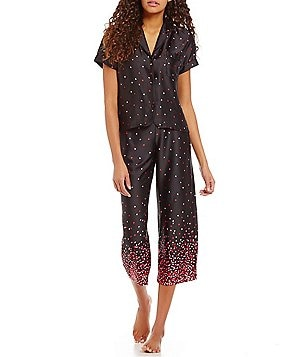 kate spade new york Heart Confetti-Print Charmeuse Pajamas