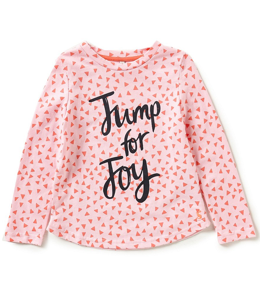 Joules Little Girls 3-6 Bessie Geo Screen Print Top