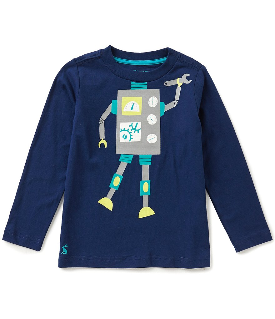 Joules Little Boys 3-6 Robot Screen Print Top