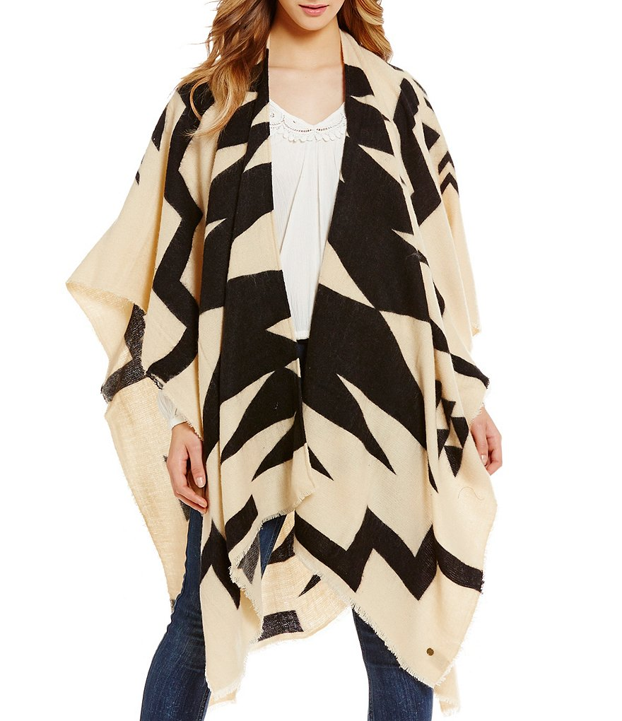 Billabong Beachy Nights Printed Open-Front Cape