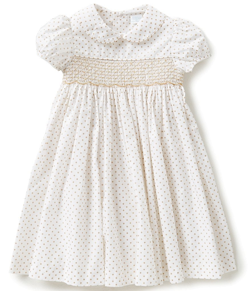 Edgehill Collection Baby Girls 3-24 Months Polka Dot Smock Dress