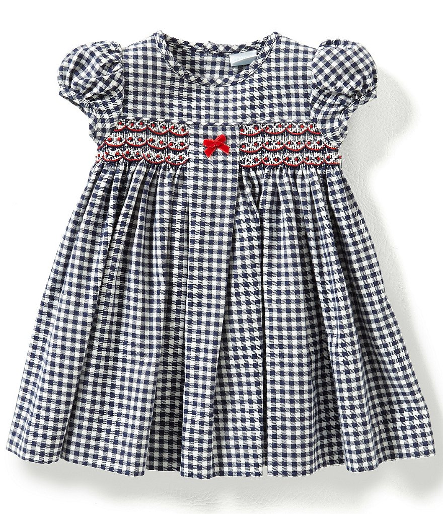 Edgehill Collection Baby Girls 3-24 Months Checked Smocked Dress