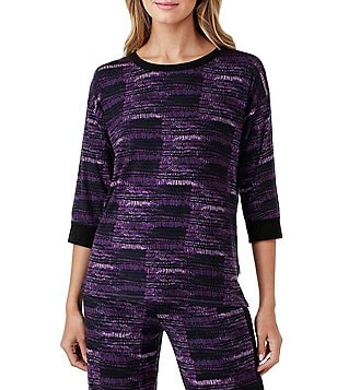 DKNY Abstract Jersey Sleep Top