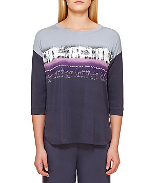DKNY Ombré Jersey Sleep Top