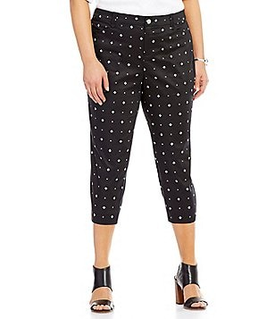 Intro Plus Fiona Print Sateen 4-Pocket Capri