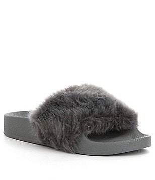 Steve Madden Girl´s J-Softey Faux Fur Slides