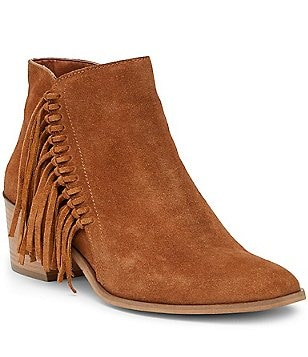 Kenneth Cole Reaction Rotini Knotted Fringe Block Heel Booties