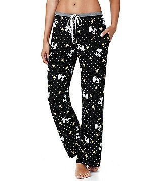 Peanuts Snoopy & Woodstock Dotted Jersey Sleep Pants