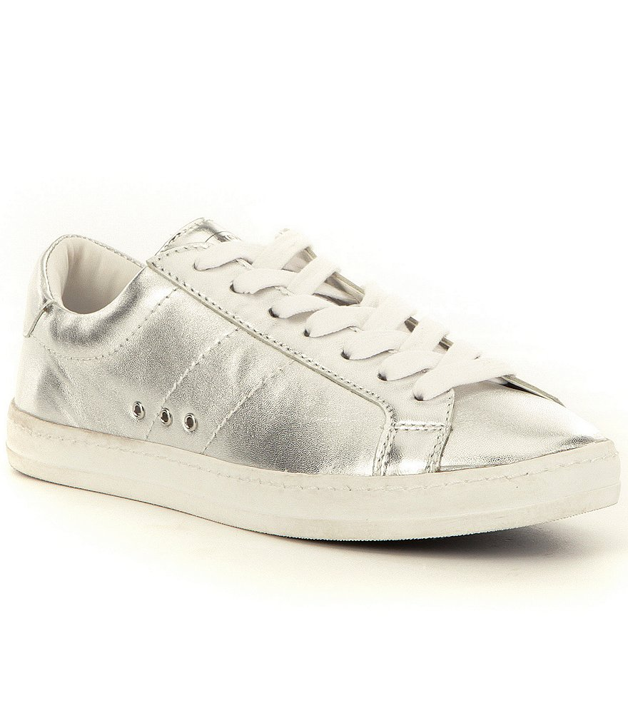 Steve Madden Blast Metallic Leather Lace-Up Sneakers