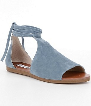 Steve Madden Elaina Ankle Tie Suede Sandals