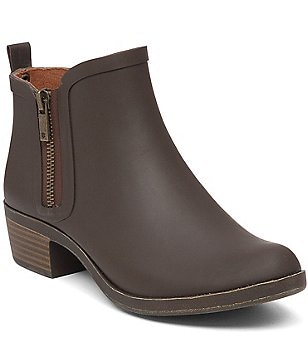 Lucky Brand Basel Side Zip Waterproof Rubber Rain Booties