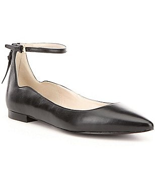 Cole Haan Millicent Leather Skimmer Flats