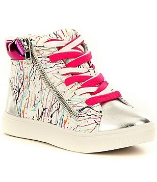 Steve Madden Girl´s J-Spritzr High Top Lace-Up Side Zip Sneaker