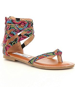 Steve Madden Girl´s J-Crown Multi Color Embroidered Sandals