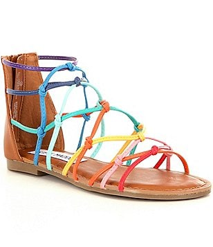 Steve Madden Girl´s J-Mistic Multi-Color Criss-Cross Banded Sandal
