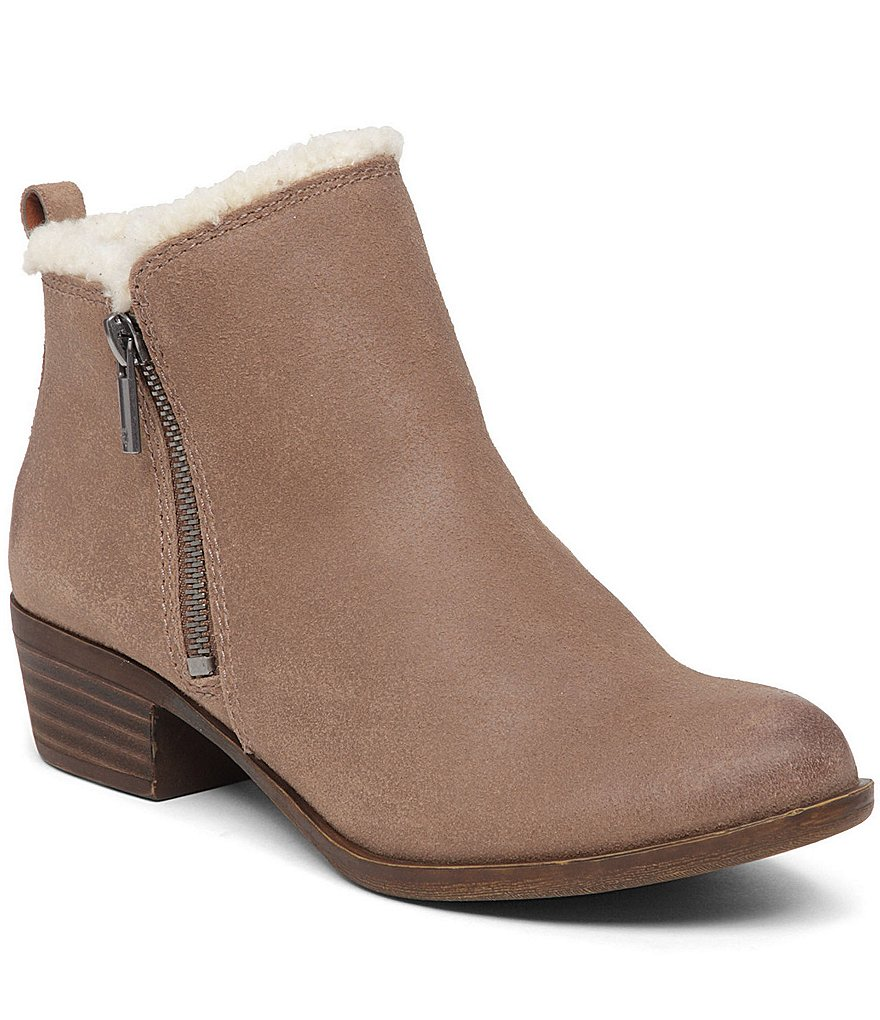 Lucky Brand Basel 4 Faux-Fur Lined Side Zip Booties