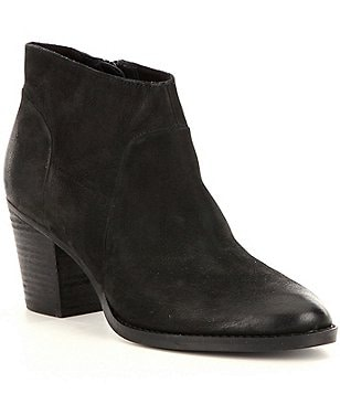 Steve Madden Gilmore Leather Block Heel Booties