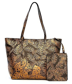 Tommy Bahama Cocoa Beach Metallic Leather Tote