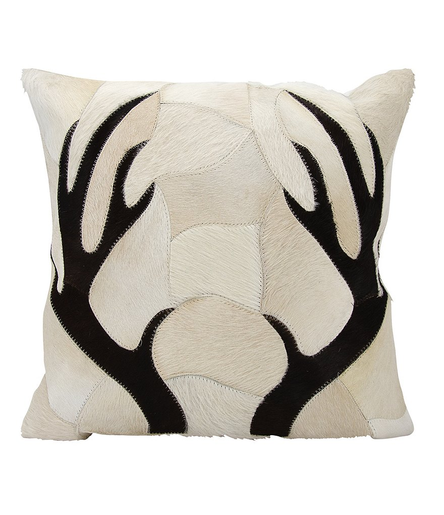 Mina Victory by Nourison Dallas Antler Haircalf Piecework Throw Pillow