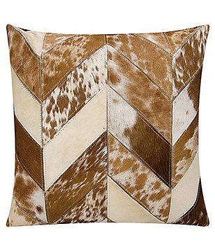 Mina Victory by Nourison Chevron Haircalf Throw PIllow
