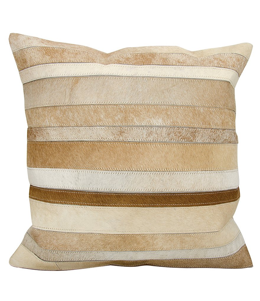 Mina Victory by Nourison Striped Haircalf Throw Pillow