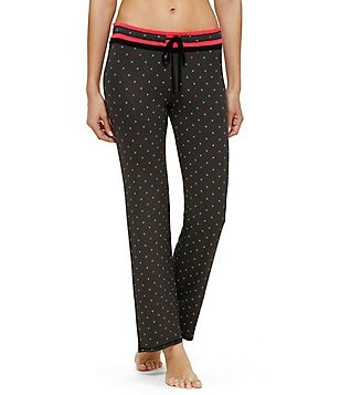 Kensie XOXO Heart-Print Jersey Sleep Pants