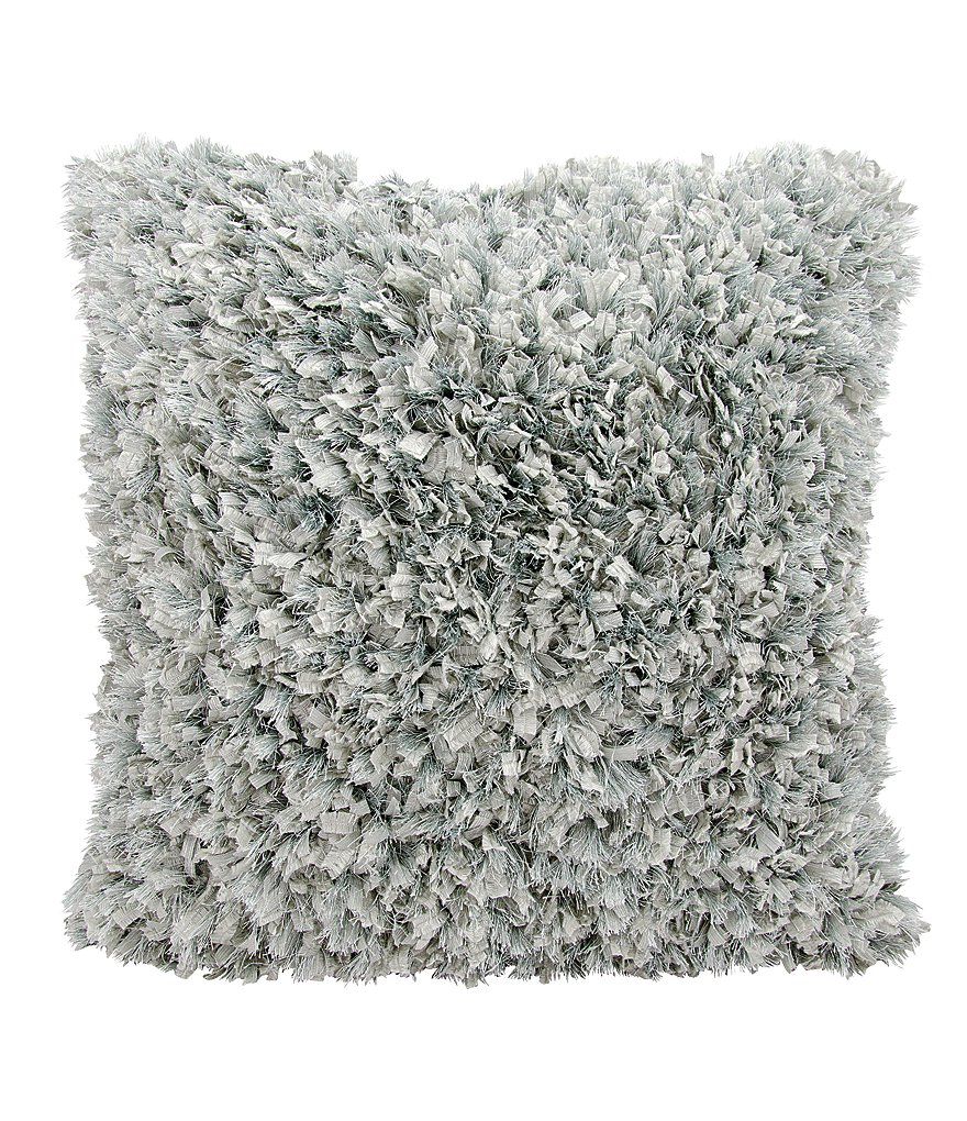 Mina Victory by Nourison Metallic Shag Faux-Fur Pillow