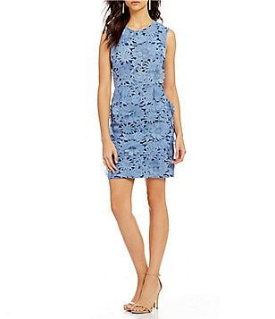 French Connection Manzoni Floral Lace Sleeveless Sheath Dress