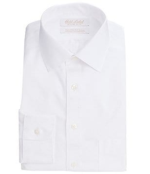 Gold Label Roundtree & Yorke Non-Iron Slim-Fit Spread-Collar Solid Dress Shirt