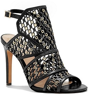 Vince Camuto Korthina Leather Metal Stone Chain Link Dress Sandals