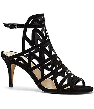 Vince Camuto Prisintha Suede Caged Ankle Strap Dress Sandals