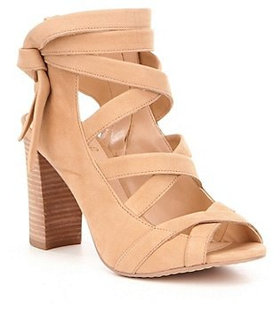 Vince Camuto Sammson Tumbled Leather Block Heel Banded Sandals