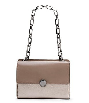 Louise et Cie Ivie Metallic Chain-Handle Shoulder Bag