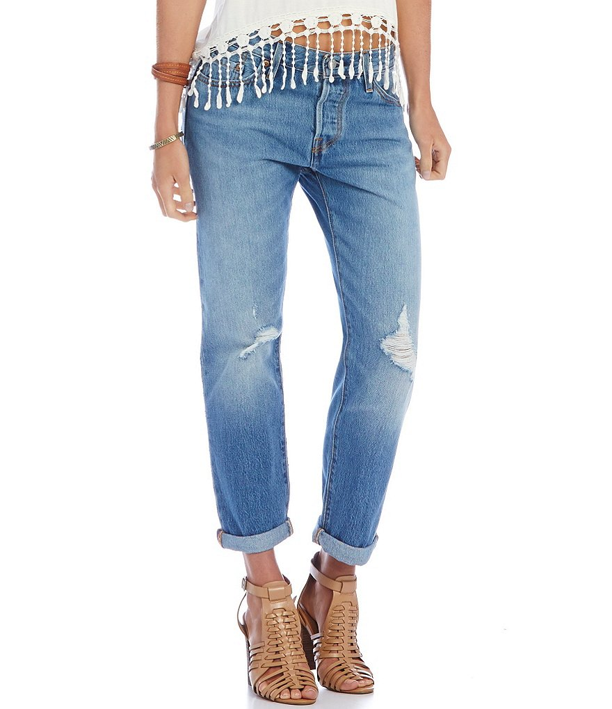 Levi´s® 501® CT Rolled Distressed Boyfriend Jeans