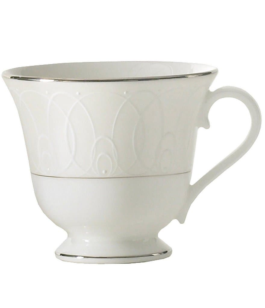 Waterford Ballet Icing Pearl Platinum Bone China Cup