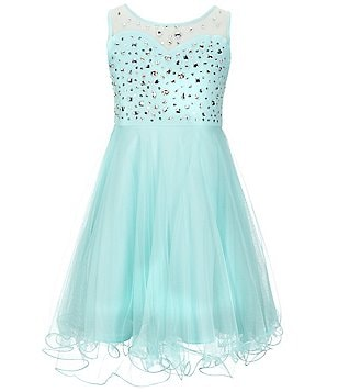 Tween Diva Big Girls 7-16 Beaded Mesh Dress