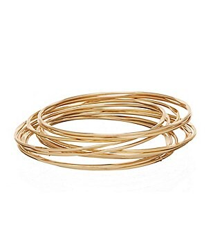 Anna & Ava 12-Piece Thin Bangle Bracelet Set