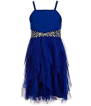 Tween Diva Big Girls 7-16 Scuba Beaded Dress