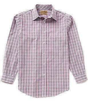 Gold Label Roundtree & Yorke Big & Tall Perfect Performance Non-Iron Multi-Plaid Sportshirt