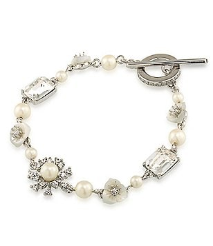 Carolee 21 Club Mother-of-Pearl Line Bracelet