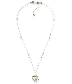 Carolee 21 Club Crystal Pendant Necklace