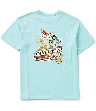 Caribbean Big & Tall Short-Sleeve Cigar Screen Print Graphic Tee
