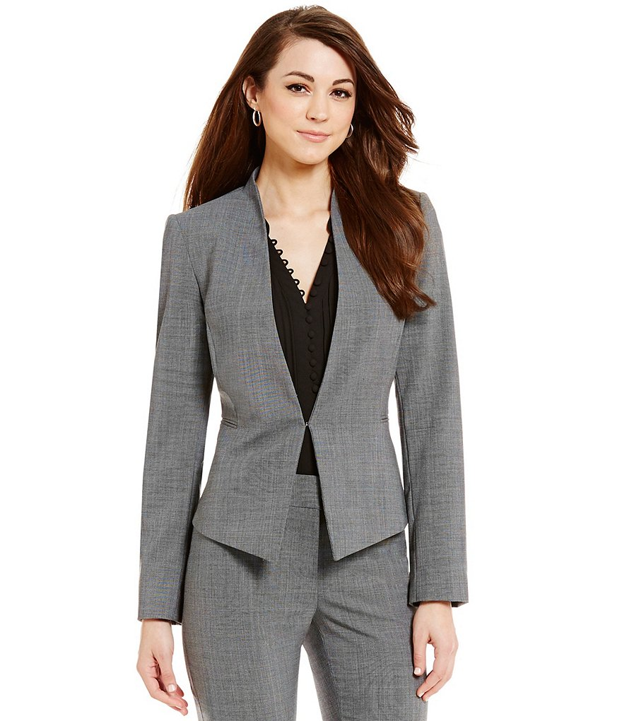 Antonio Melani Selena Bi-Stretch Collarless Jacket
