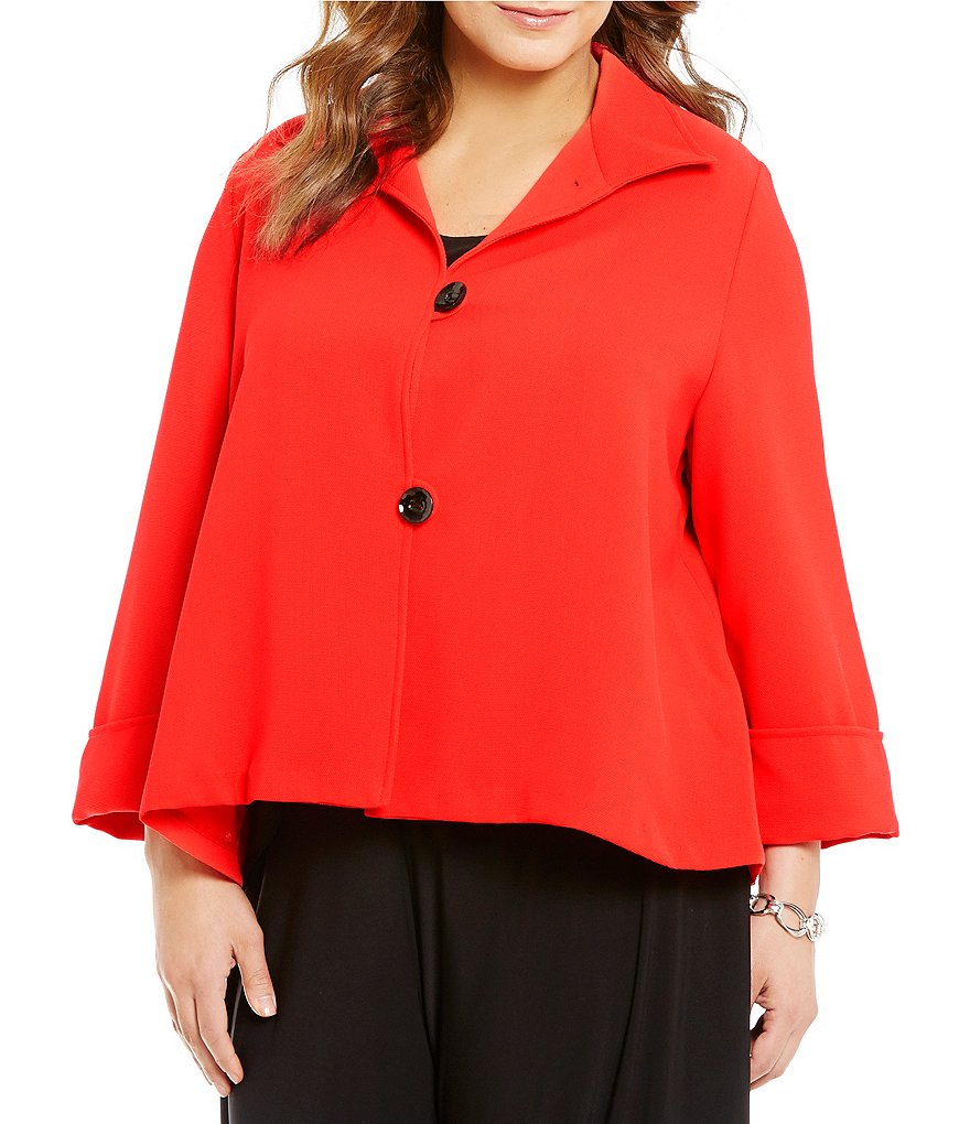 IC Collection Plus Stand Up Collar Jacket