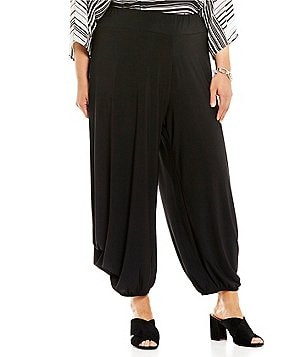 IC Collection Plus Pull-On Solid Draped Pants