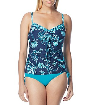 Beach House Dana Point Underwire Tankini & Solid High Waisted Adjustable Tie Side Bottom
