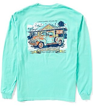 Southern Fried Cotton Sea Truck Graphic Long-Sleeve Pocket Tee