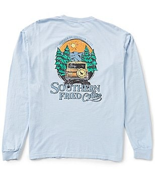 Southern Fried Cotton Men´s Mountain Calling Graphic Long-Sleeve Pocket Tee